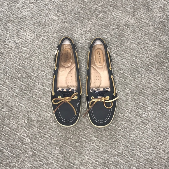 Sperry Top-Sider Shoes - Sperry Top-Sider Black with Cheetah; Size 7.5 m